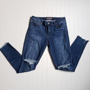 Joe's Jeans raw hem distressed skinny jeans
